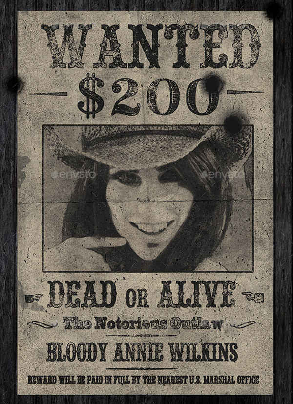 cowgirl old wanted poster1
