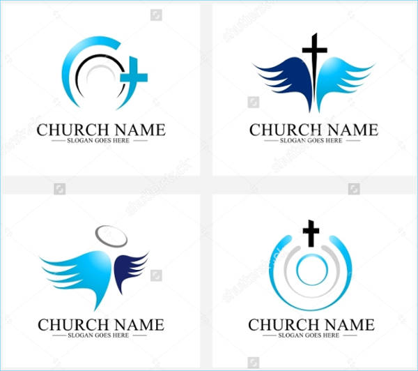 creative church logo design set