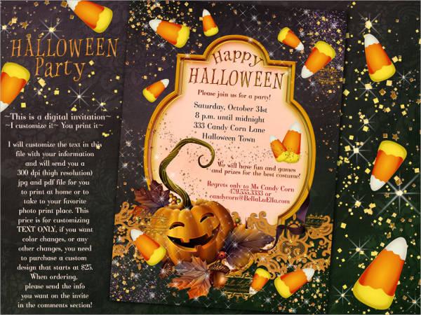 creative halloween party invitation