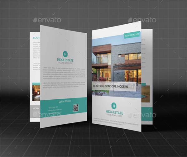 creative real estate bi fold brochure design