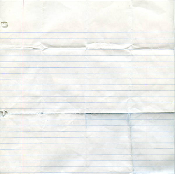 crumpled notebook paper texture