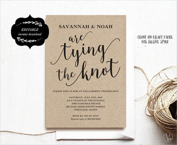 customized engagement invitation cards