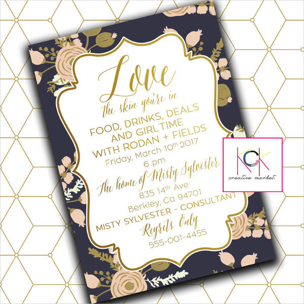 customized event invitation template