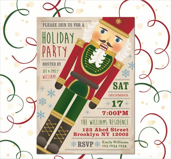 customized holiday party invitation