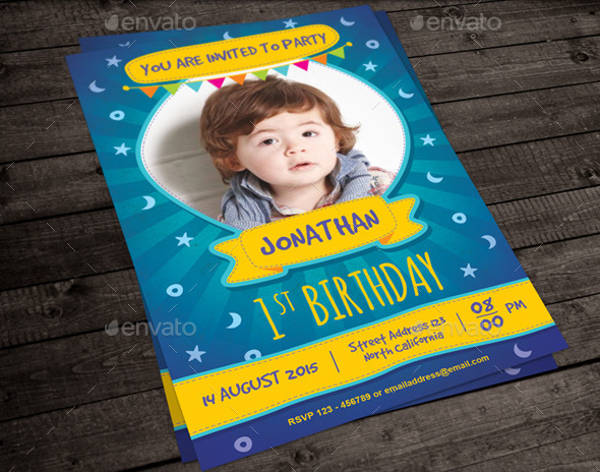 cute kid birthday invitation