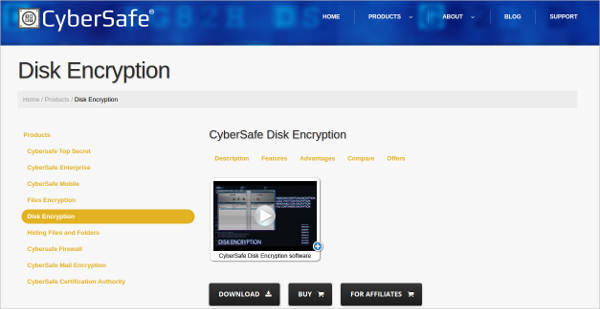 cybersafe disk encryption