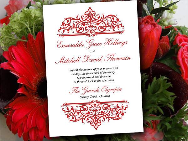 diy formal wedding invitation