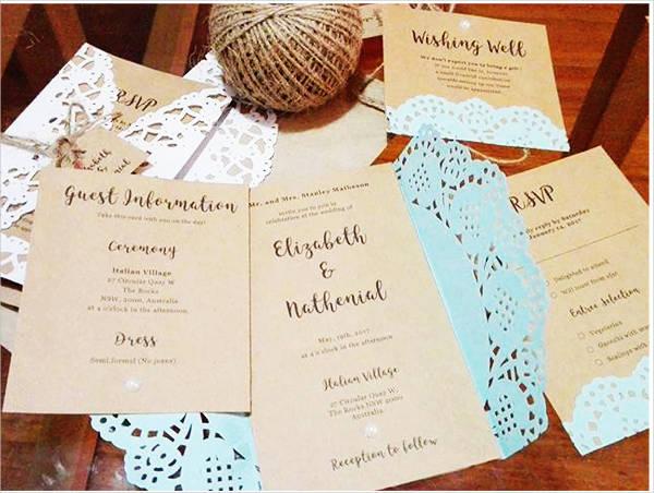 diy rustic wedding invitation1