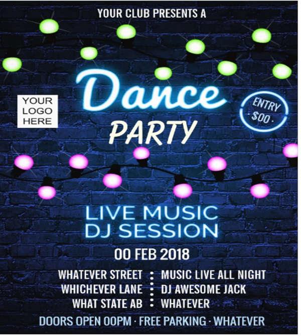 dj club event flyer