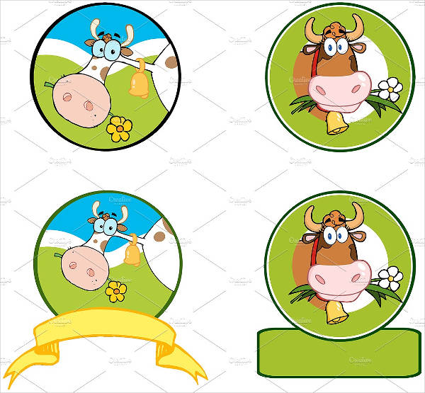 dairy cow logo banner collection