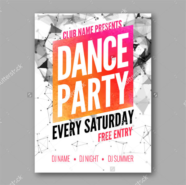 dance party event flyer