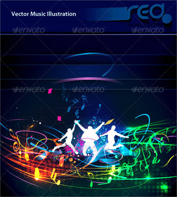 dance party vector template design