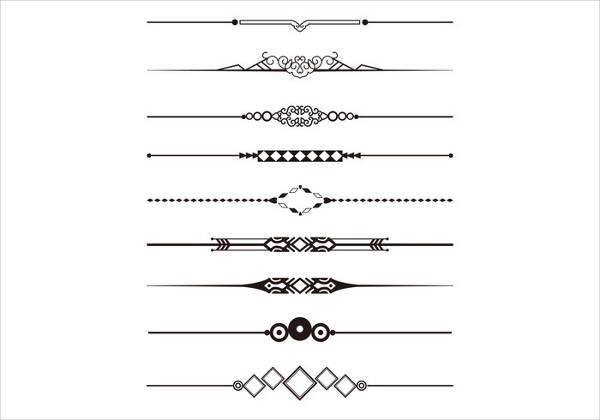 decorative dividers vector design
