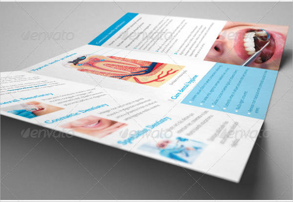 dental clinic healthcare trifold brochure