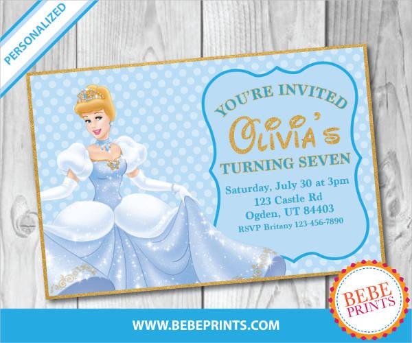 digital cinderella invitation