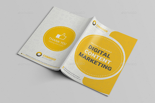 digital content marketing brochure