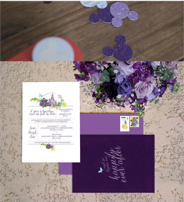 disney wedding invitation template