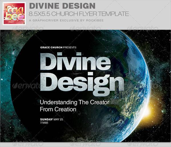 divine design church flyer invite template