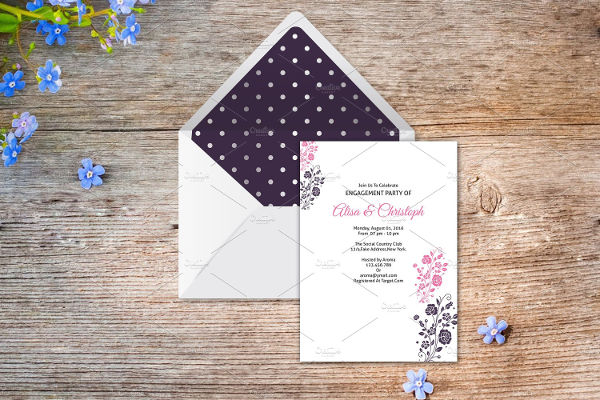diy engagement invitation template