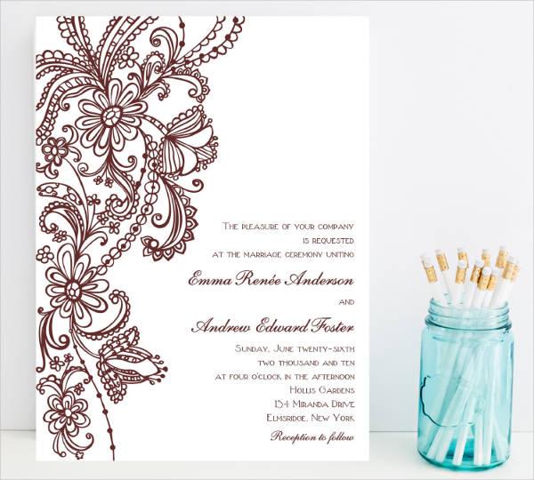diy vintage wedding invitation
