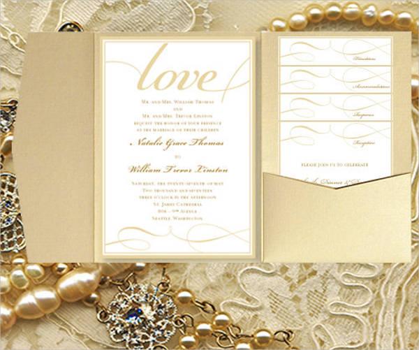 diy wedding pocket invitation
