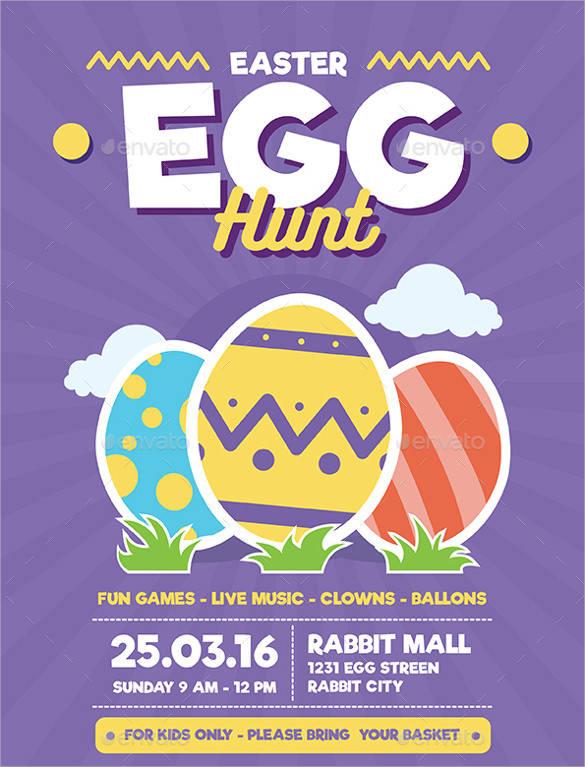 easter egg hunt flyer templates