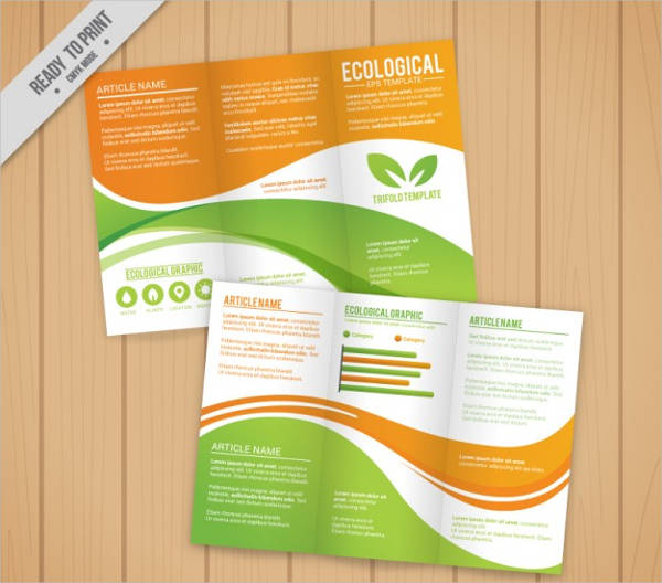 ecological tri fold free vector
