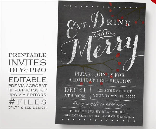 33 party invitation templates download downloadcloud for Free holiday invite templates