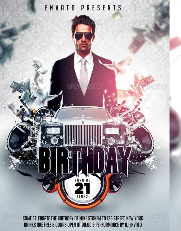 elegant birthday flyer1