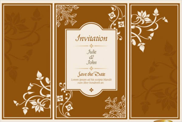 elegant brochure wedding invitation