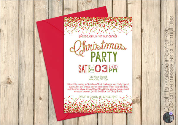 Elegant Christmas Templates: 36+ Sample Invitation Template - Download