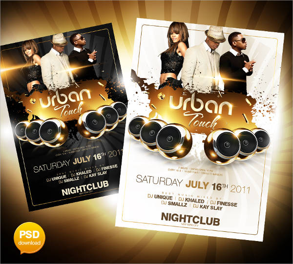 elegant club party flyer