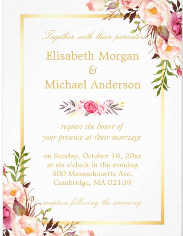 elegant formal wedding invitation