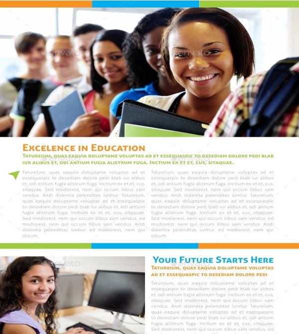elegant indesign educational brochure template