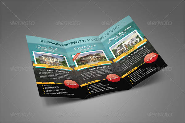 elegant real estate tri fold brochure template