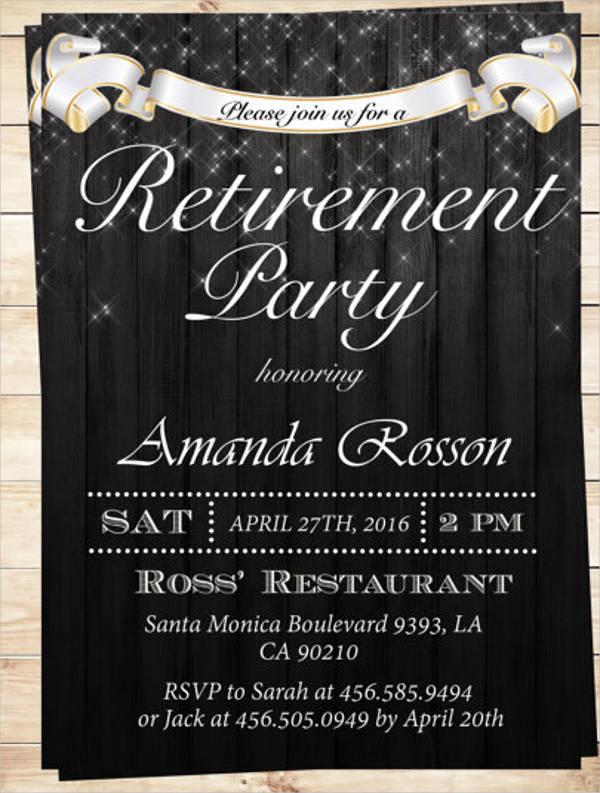 elegant retirement invitation templates
