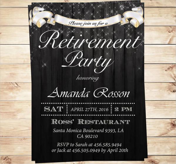 elegant retirement party invitation template