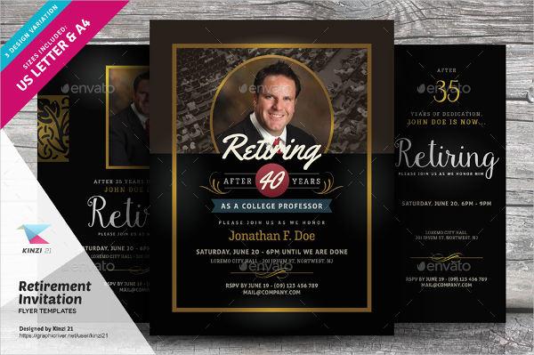 elegant retirement party invitation template2