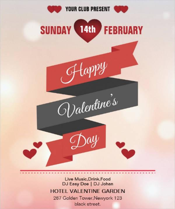 elegant valentine's party flyer