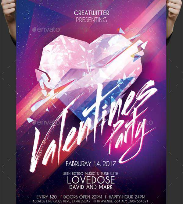 elegant valentine's party flyer1
