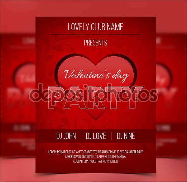 elegant valentine's party flyer2