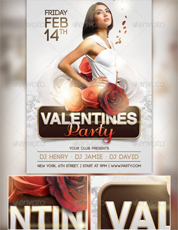 elegant valentine's party flyer3