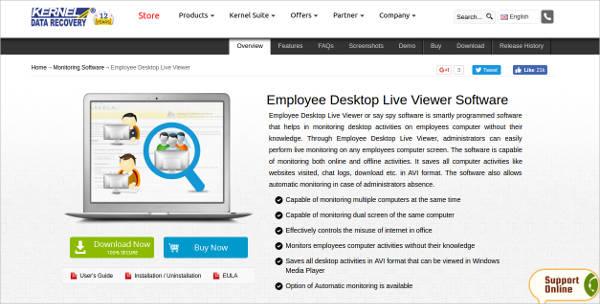 employee desktop live viewer