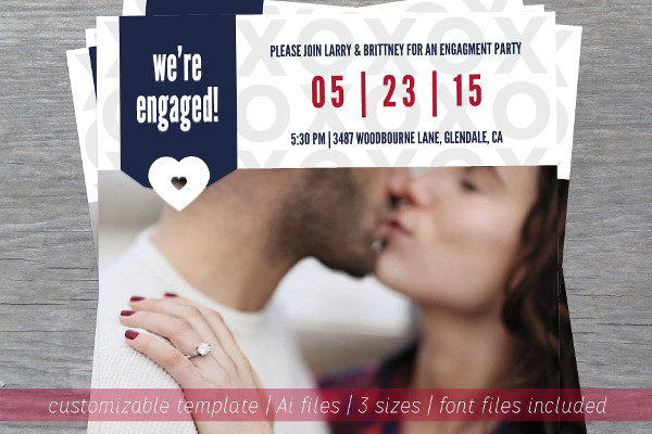 engagement announcement invitation card
