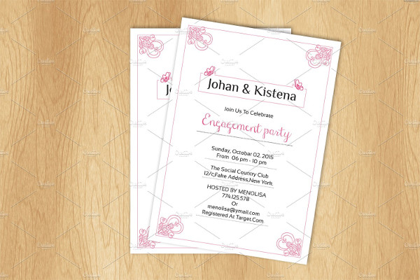 engagement invitation card template