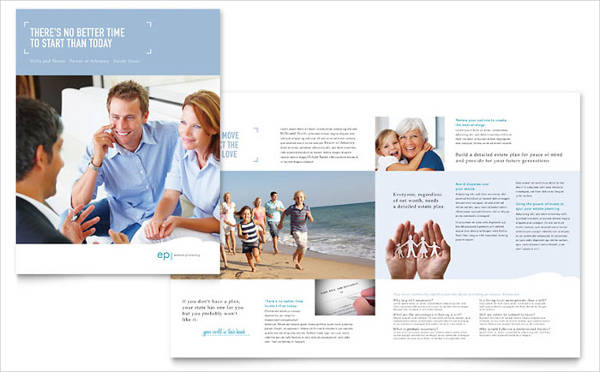 estate event planning brochure