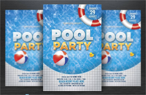 event pool party flyer