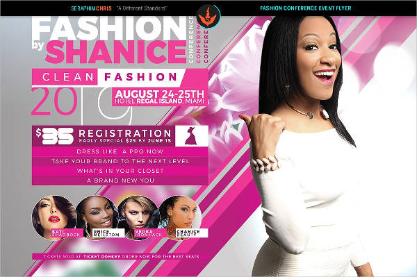 fashion conference flyer