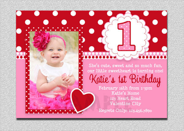 first birthday event invitation