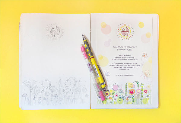 first naming ceremony invitation